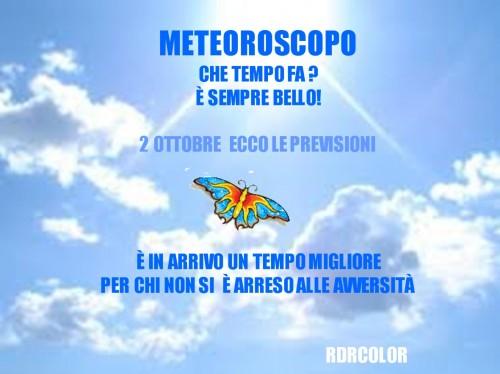 2 ottobre, meteoroscopo,