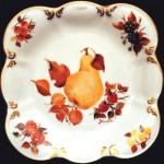 piatto porcellana smerlato e rifinito in oro fanta