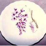piatto porcellana con il glicine